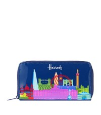 Harrods Bright Skyline Long Purse Unisex