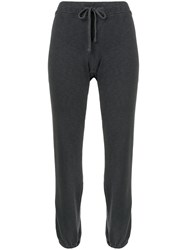 James Perse Drawstring Waist Track Pants Grey