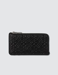 Loewe Embossed Logo Coin Card Holder Black