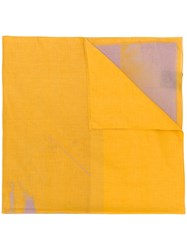 Calvin Klein 205W39nyc Paint Like Printed Scarf Yellow And Orange