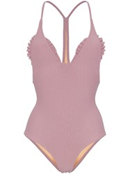 Made By Dawn Traveller Ribbed Swimsuit Pink