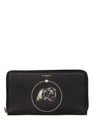 Givenchy Monkeys Faux Leather Zip Around Wallet
