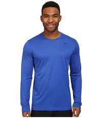 Nike Legend 2.0 Long Sleeve Tee Game Royal Black Men's T Shirt Blue