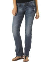 Silver Jeans Tuesday Low Rise Bootcut Jeans Dark Blue Wash Indigo