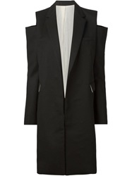Vera Wang Cut Shoulder Coat Black