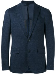 Hackett Classic Blazer Men Cotton Viscose 54 Blue