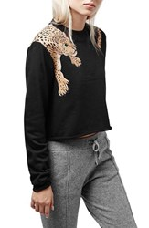 Women's Topshop Leopard Crop Top