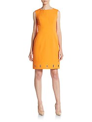 Anne Klein Mystery Crepe Dress Tangerine