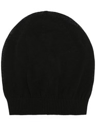 Rick Owens Beanie Hat Men Cotton One Size Black