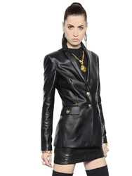 Versace Nappa Leather Jacket Black