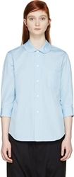 Comme Des Garcons Girl Blue Peter Pan Collar Shirt