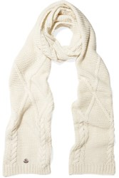 Moncler Cable Knit Scarf Ivory