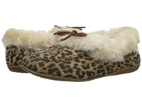 Vionic With Orthaheel Technology Cozy Juniper Moccasin Tan Leopard Women's Slip On Shoes Animal Print