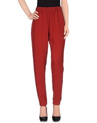 Plein Sud Jeans Plein Sud Trousers Casual Trousers Women Brick Red