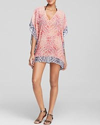 Tommy Bahama Coral Medallion Tunic Swim Cover Up Razz Coral