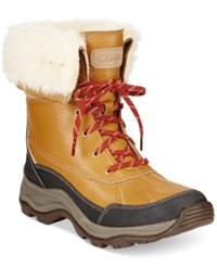 Clarks Collection Women's Arctic Venture Cold Weather Boots Women's Shoes Camel Leather