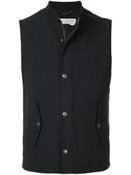 Gieves And Hawkes Zipped Gilet Blue