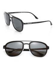 Giorgio Armani 55Mm Square Sunglasses Black