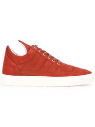 Filling Pieces Low Top Padded Sneakers Red