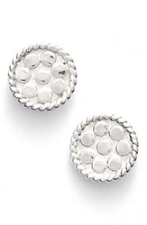 Anna Beck Women's 'Gili' Mini Disc Stud Earrings Silver
