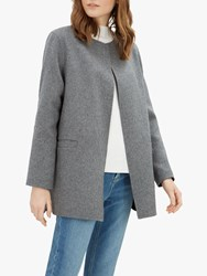 Jaeger Double Faced Wool Duster Coat Grey