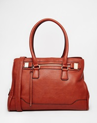 Aldo Tote With Zipper And Hardware Detail Rust
