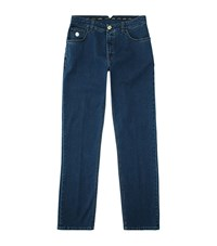 Stefano Ricci Slim Mid Wash Jeans Male Blue