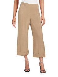 Akris Flared Silk Pants Beige