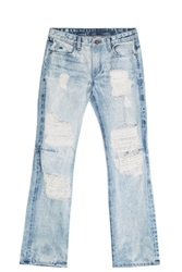 Tortoise Jeans Flared Destroyed Jeans Blue