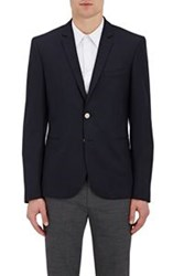 Paul Smith Ps By Men's Hopsack Two Button Sportcoat Blue