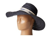 San Diego Hat Company Pbl3076 Floppy With Jacquard Canvas Trim Navy Traditional Hats