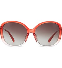 Prabal Gurung Pg23 Dual Tone Oversized Sunglasses Red And Light Gold