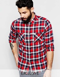 Reclaimed Vintage Checked Shirt Red