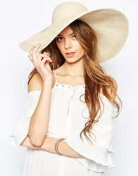 Asos Oversized Straw Hat With Crochet Insert Brown