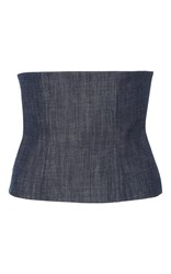 Tibi Denim Corset Medium Wash