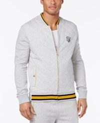 Sean John Men's Quilted Tracksuit Jacket Gray