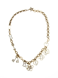 Lanvin Key And Heart Pendant Necklace Metallic