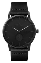 Triwa Falken Leather Strap Watch 38Mm Black