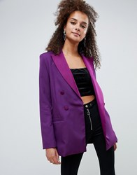 Bershka Blazer In Purple