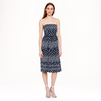 J.Crew Strapless Scattered Floral Dress