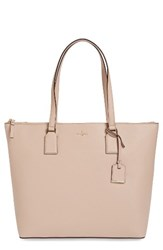 Kate Spade New York Large Cameron Street Lucie Leather Tote Beige Toasted Wheat