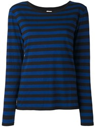 Levi's Striped Jumper Blue