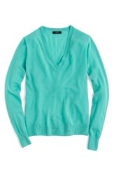 J.Crew Women's Featherweight Cashmere Pullover Pacific Turquoise