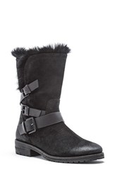 Andrew Marc New York Women's Hudson Genuine Rabbit Fur Boot