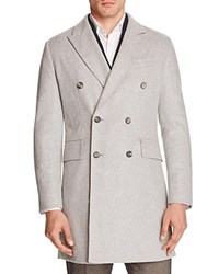 Hardy Amies Double Breasted Slim Fit Coat Pearl