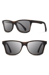 Shwood Men's 'Canby' 54Mm Polarized Wood Sunglasses Dark Walnut Grey Dark Walnut Grey