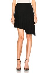 Thierry Mugler Asymmetrical Pleated Skirt In Black