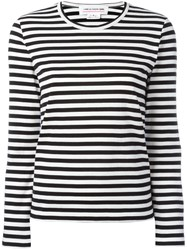 Comme Des Garcons Girl Striped Long Sleeve T Shirt Women Cotton Xs Black