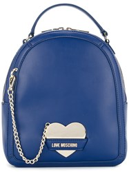 Love Moschino Chain Detail Backpack Blue