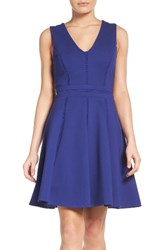 Adelyn Rae Women's Ponte Fit And Flare Dress